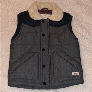 Size 3/4 Zara boys vest and button down shirt.
